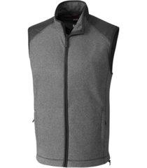 cutter and buck men's big and tall cedar park full zip sweater vest
