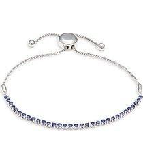 14k white gold & sapphire bracelet