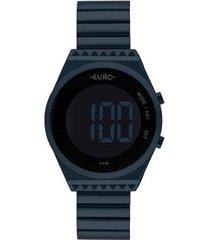 relógio euro digital eubjt016ae/4a feminino