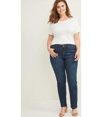 lane bryant women's signature fit straight jean-everyday dark wash 34/36 dark denim