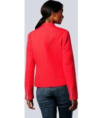 jacka alba moda röd
