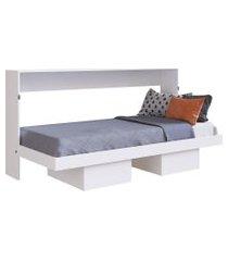 cama articulável horizontal solteiro latino branco artinmóveis