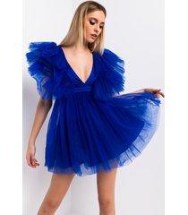 akira nothing like me deep v tulle mini dress