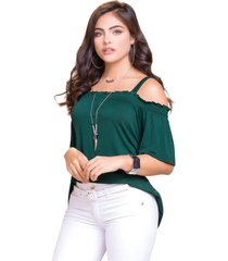 camiseta adulto femenino verde botella marketing  personal