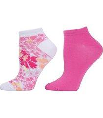 natori bold floral socks, 2 pair pack, women's