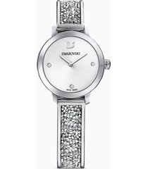 orologio cosmic rock, bracciale di metallo, bianco, acciaio inossidabile