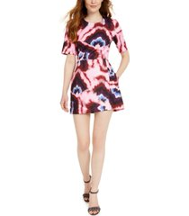 french connection printed mini dress