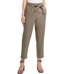 calvin klein belted pull-on pants