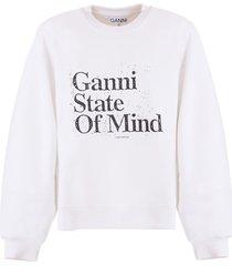 ganni cotton jersey sweatshirt