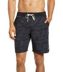 men's vuori banks hybrid shorts, size medium - black
