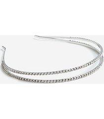 *double crystal row headband - clear