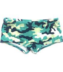 sunga maia swim boxer camuflada verde