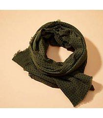 lou & grey dot fringe scarf
