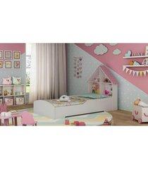 cama casinha branca e rosa gelius - tricae