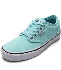 tenis skateboarding azul aguamarina-blanco vans atwood
