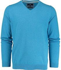 basefield blauwe v-hals pullover 219013879/605