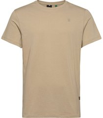 base-s r t ss t-shirts short-sleeved beige g-star raw