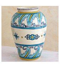 ceramic vase, 'bermuda' (large) (guatemala)