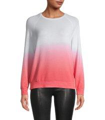 workshop women's dip-dye sweatshirt - white pink - size m