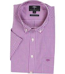 fynch-hatton fynch-hatton paars short sleeve overhemd