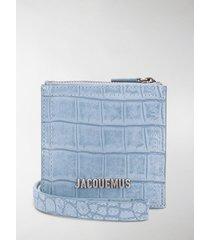 jacquemus crocodile-effect shoulder bag