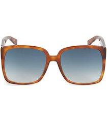 fancy 58mm oversize butterfly sunglasses