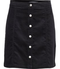 mini corduroy button kort kjol svart calvin klein jeans