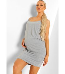zwangerschap basic jersey nachtjapon, grey