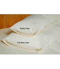 holy lamb organics organic cotton sateen body pillow case, full size bedding