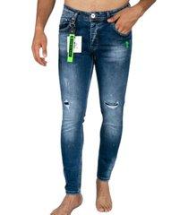 gescheurde broek met paint drops - skinny jeans - a18e