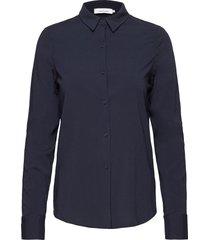 milly np shirt 9942 overhemd met lange mouwen blauw samsøe samsøe