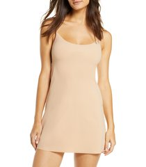 women's commando mini cami slip, size small/medium - beige