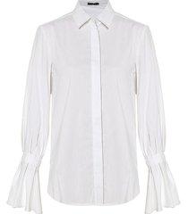 camisa clásica manga lazo blanca varini