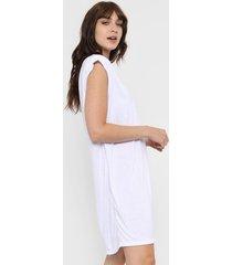 vestido blanco destino collection hombreras