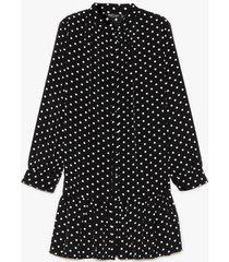 womens polka dot summer nights plus mini dress - black