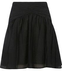 n.21 rear zip short skirt