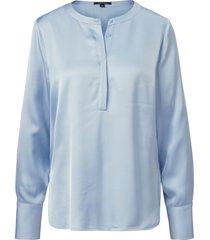 blouse lange mouwen van comma, blauw