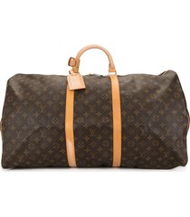 louis vuitton 1999 pre-owned keepall 60 travel bag - brown