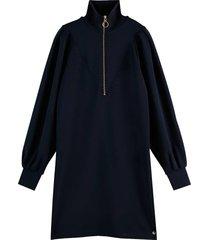 anorak sweat dress, contain tencel