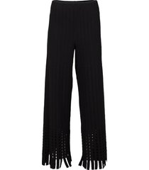 wool fringed trousers