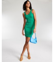 guess agatha square-neck ribbed sweater dress