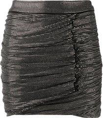 pinko glass-stud fitted mini skirt - black