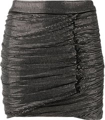 pinko glass-stud fitted mini skirt - black