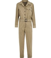 dolce & gabbana belted buttoned jumpsuit