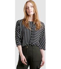 blouse laura kent donkergroen::zwart