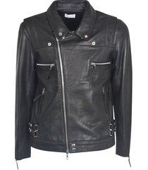 john elliott multi-zipped classic biker jacket