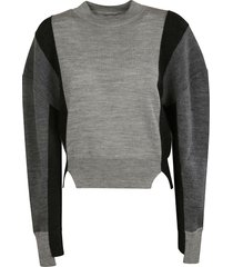 stella mccartney side-slit ribbed sweater