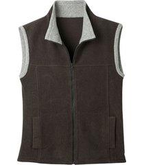 bicolor fleece-vest uit pure bio-katoen, antraciet/grijs s