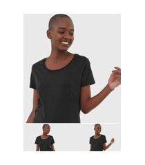 kit 2pçs camiseta calvin klein underwear logo preto