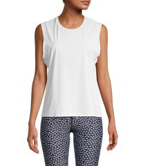 the upside women's perforated top - lilac - size xs
